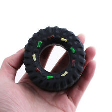 Rubber Tyre Treads Tough Dog Cat Toy Puppy Pet Squeaky Chew Animal Sound Toys