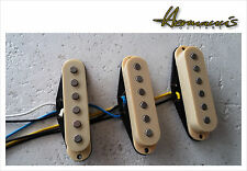 Stratocaster Single Coil Pick Up Set, Vintage 60s, handwound Flat Alnico V PU