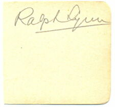 Ralph Lynn signed autograph album page 1930s English Actor Dirty Work Plunder