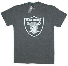 Raiders Medium T-Shirt Oakland NFL Football American Big Emblem Heather Charcoal
