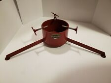 BOWLING ENTERPRISES  Bowling's Last Stand  Christmas Tree Stand Vintage! Red