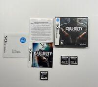 Nintendo DS Call Of Duty Black Ops, World At War & Modern Warfare Lot!