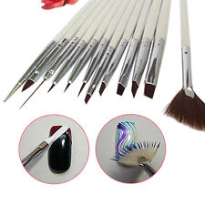 EG_ 12x Nail Art Painting Pens Brush Tips Tools Set UV Gel Nail Brushes Delightf