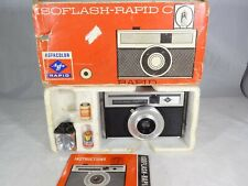Agfa IsoFlash Rapid C Camera in Original Box w/ Instructions, Flash & Batteries