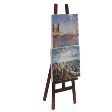 Artist Easel with 2 Paintings Pictures Port & Seascape for 1:12 Dollhouse