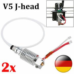 2X V5 J-head Hot End 0.4mm / 1.75mm für Anycubic I3 Mega 3D Drucker Extruder DE