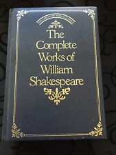 William Shakespeare The Complete Works, Deluxe Edition Leather Bound 1982 RARE!