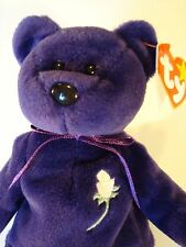 Authentic 1997 Ty Purple Princess Diana Beanie Baby - Mint Condition