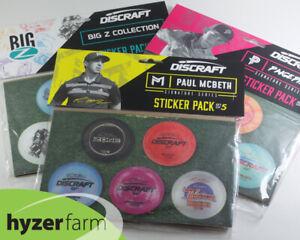 DISCRAFT FULL COLOR STICKER PACKS *Pick from McBeth, Pierce or BigZ* Hyzer Farm