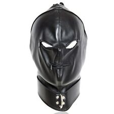 Fetish Bondage Gimp Hood Sensory Deprivation Hood Mask Faux Leather smab40