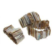 Wholesale Lot 8 Genuine Iridescent Abalone Shell Stretch Bracelets Jewelry
