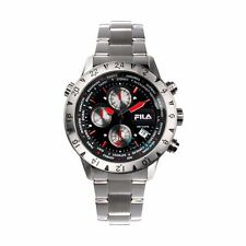Fila Men's Watch 38-007-001 Chronograph Silver Stainless Steel Quartz Glass