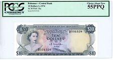 Bahamas ... P-38a ... 10 Dollars ... L.1974 ... *AU* ... PCGS 55 PPQ