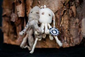 New Anthropologie Vintage by Crystal Arctic Explorer Spun Cotton Ornament Octo