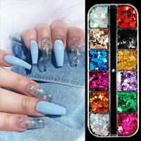 3D Laser Butterfly Sequins Holographic Nail Art Flakes Glitter Foil Manicure