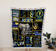 Down Syndrome awareness, Elephant Fleece, Quilt Blanket Printing in Usa