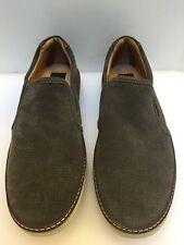 Johnston & Murphy McGuffey Gray Water Resistant Suede Slip On Sneakers Men's 8 M