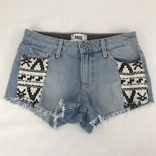 Paige Women's Size 25 Kiera Short Mayan Piecing Denim Jeans