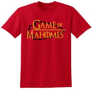 "SALE TEE SHIRT Kansas City Chiefs Patrick Mahomes ""Game of"" ADULT LARGE"
