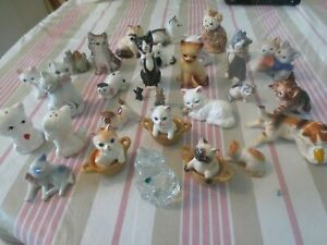 Lot of Mixed 25 Vintage Cats Figurines