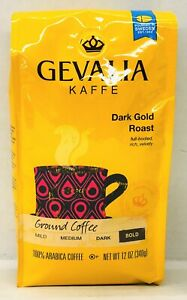 Gevalia Kaffe Dark Gold Roast Ground Coffee 12 oz