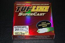 TUF-Line SuperCast - Yellow 20 lb Test - 125 yards Braid Fishing Line SC20-125YE