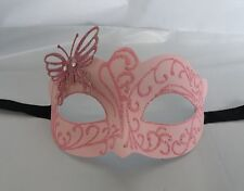 Pink Venetian Masquerade Party Mask with Butterfly  *NEW* Express Post Option
