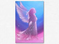 """Künstler Kunstfoto """"Engel"""" Engelbild Hochglanz in Blau Lila Pink, Energiebild"""