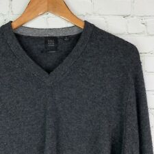 Saks Fifth Avenue Men/'s Polar Gray Donegal 100/% Cashmere Henley Sweater $295
