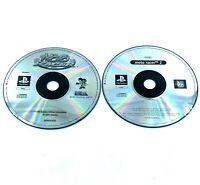 Lot de 2 jeux Playstation PS1 Moto Racer 1 et 2 Disques seuls PAL Occasion