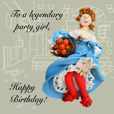 Legendary Party Girl Funny Olde Worlde Birthday Card Erica Sturla Greeting Cards