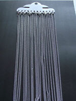 "UK Jewellery Wholesale 12 X 16"" Silver Link Curb Necklace Pendant Locket Chains"