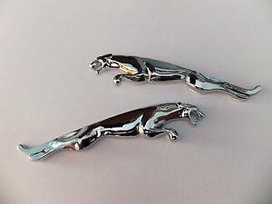 NEW 2 x JAGUAR sautant cat paire métal badge emblème XF XJ XK XJR XJS E S TYPE