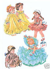 """2084 Vintage Chubby Doll Pattern - Size 21-23"""" - Year 1951"""
