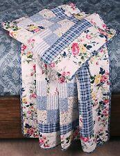 Quilt Throw Romantic Cottage Chic Garden Floral Lap Blanket