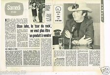 Coupure de presse Clipping 1981 (2 pages) Elton John
