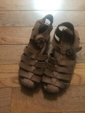 Hush Puppies Women Fisherman Brown Leather Sandals Size 8.5