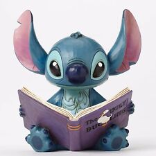 New JIM SHORE DISNEY Figurine STITCH READING STORY BOOK Statue UGLY DUCKLING