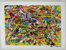 Phil Pierre - BUBBLE GUM 379 - original abstract art acrylic painting on canvas