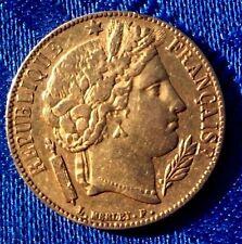 MONNAIE ANCIENNE DE 20F OR CERES 1851 A