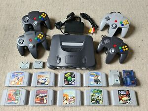 Nintendo 64 Multiplayer Bundle with 4x controllers, 9x games & MORE - PAL - N64