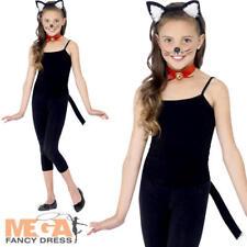 Cat Kit Kids Fancy Dress Book Day Week Animal Kitten Kids Childrens Costume Set