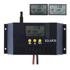 30A 12V/24V PWM Solar Panel Controller Regulator Charge Battery Safe Protection