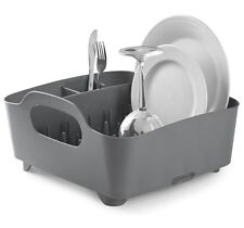UMBRA TUB DISH RACK - Drainer Tray Washing Up Dishrack Tidy  -  CHARCOAL Grey