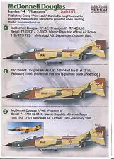 Print Scale Decals 1/72 IRANIAN AIR FORCE MCDONNELL DOUGLAS F-4 PHANTOM II