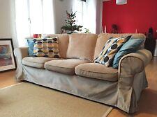 IKEA EKTORP, 3er-Sofa mit Bezug Vellinge Beige - sehr guter Zustand