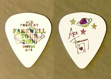 KISS Ace Frehley Farewell oil slick prism on white guitar pick Boston MA 6/12/00