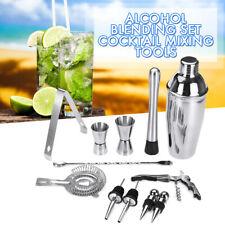 Stainless Steel Vintage Boston Cocktail Shaker Set Kit 750ml Jigger Mixer