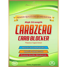 CARBZERO CARB BLOCKER / APPETITE SUPRESSANT MAX STRENGTH WEIGHT LOSS/DIET CAPS