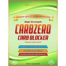 Carbzero Carb Blocker/apetito Supressant Max Fuerza Pérdida De Peso/casquillos de dieta